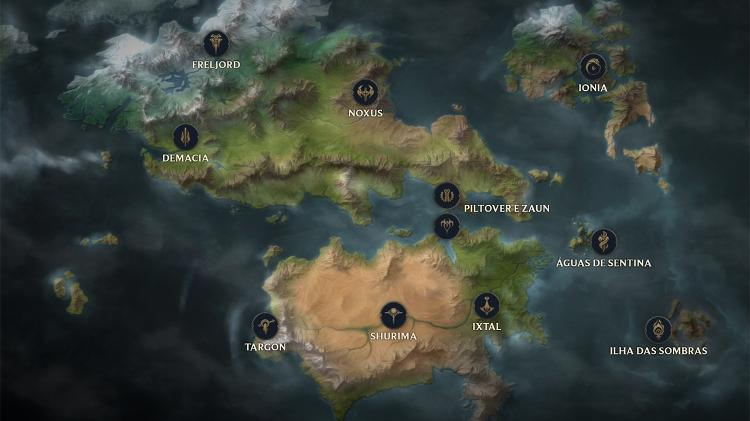 Mapa de Legends of Runeterra