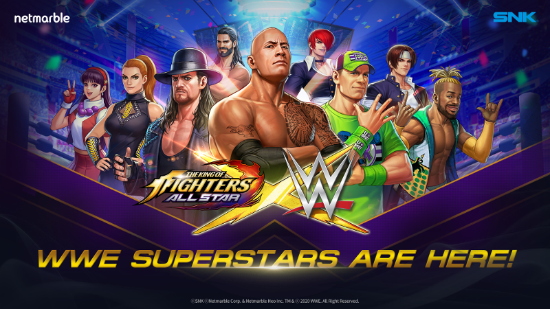 WWE no The King of Fighters Allstar