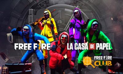 Free Fire recebe evento de La Casa de Papel!