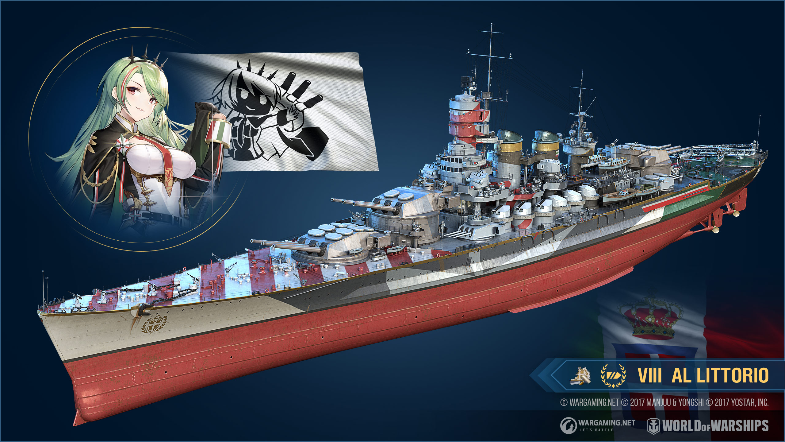 World of Warships com a Azur Lane