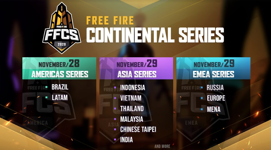 """Free Fire Continental Series (FFCS)"""