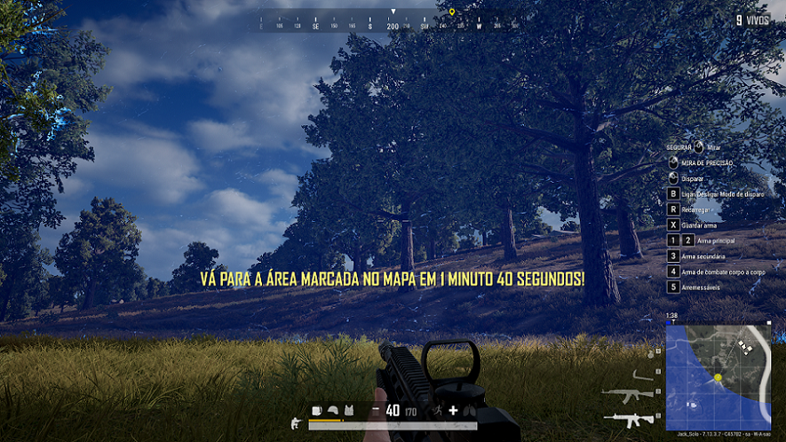 Tempo do Gás no Pubg