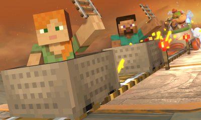Steve e Alex em Super Smash Bros. Ultimate