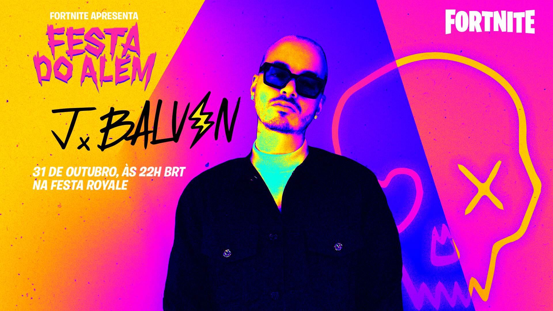 Participação de J Balvin no Party Royale do Fortnite!