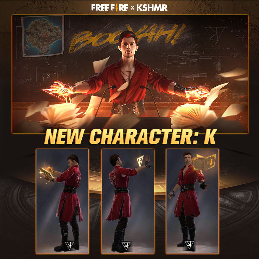 Personagem K, modelado e inspirado em KSHMR