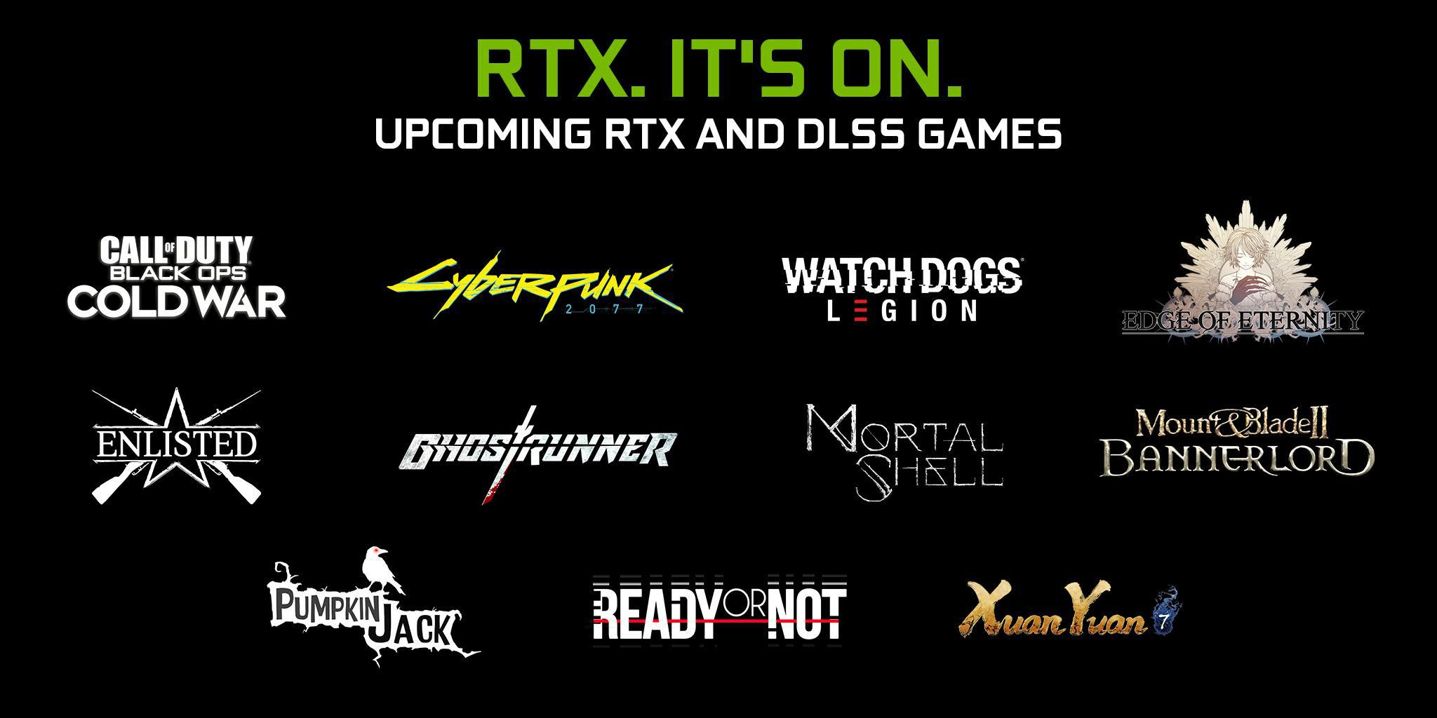 RTX ON: Dezenas de novos jogos recebem Ray Tracing e DLSS neste ano
