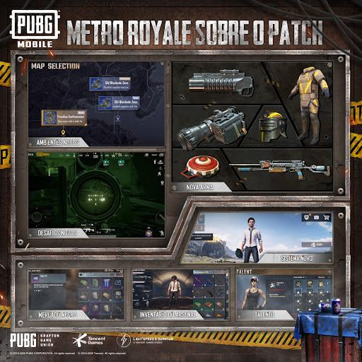 Modo Metro Royale no PUBG MOBILE