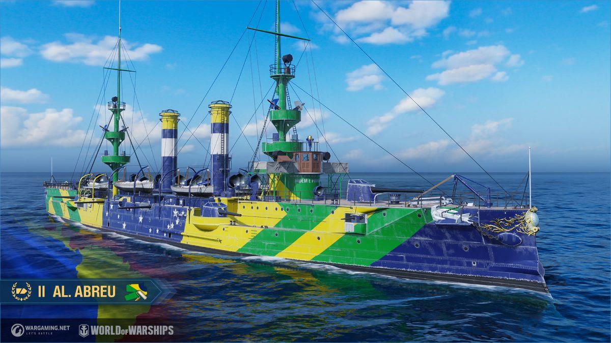 navio brasileiro é revelado em World of Warships