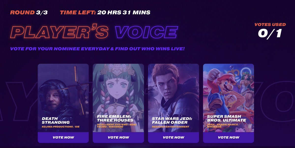 Player's Voice no The Game Awards