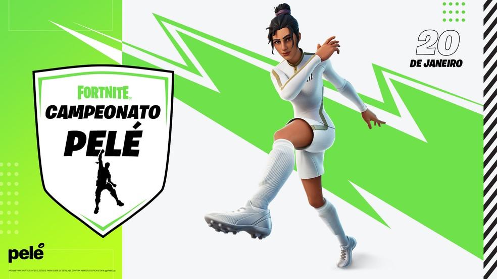 Campeonato Pelé em Fortnite — Foto: Divulgação / Epic Games