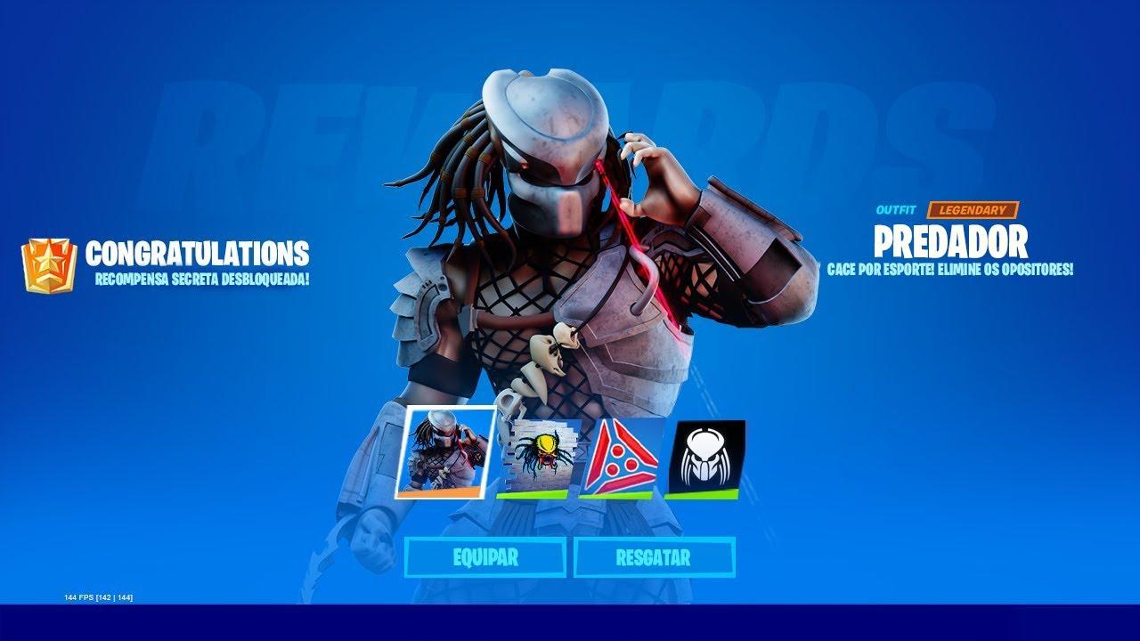 Predador no Fortnite