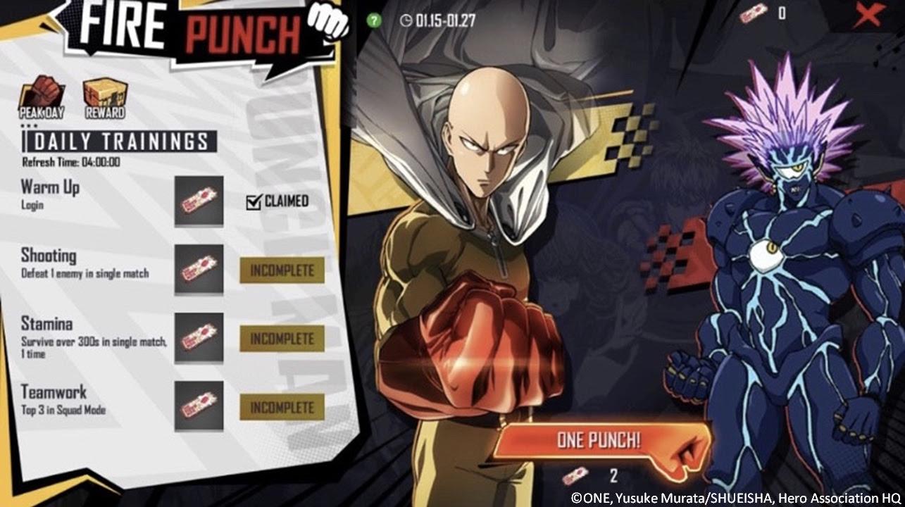 One-Punch Man em Free Fire