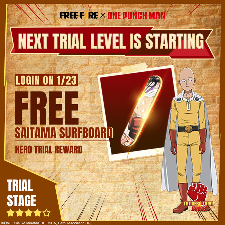 Free Fire e One-Punch Man