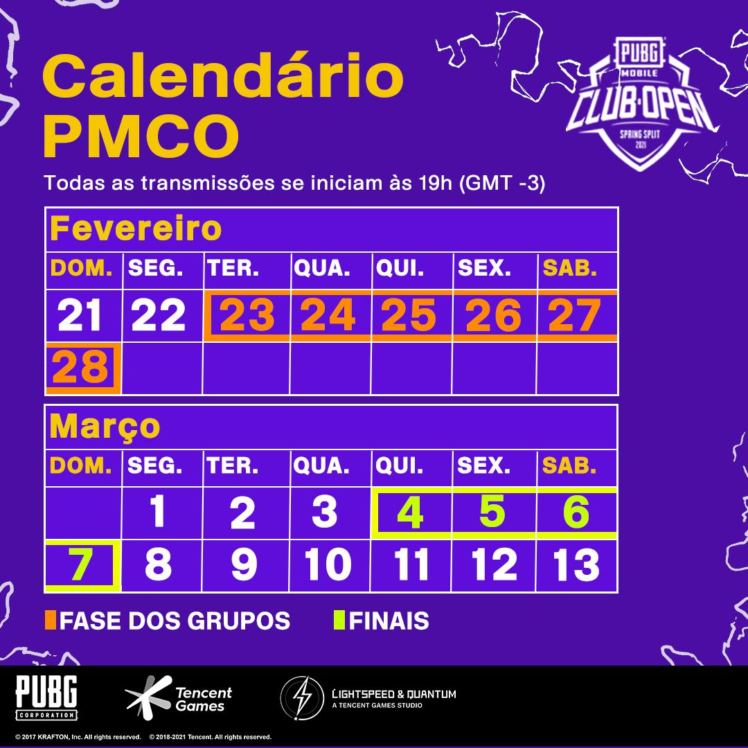Calendário PMCO