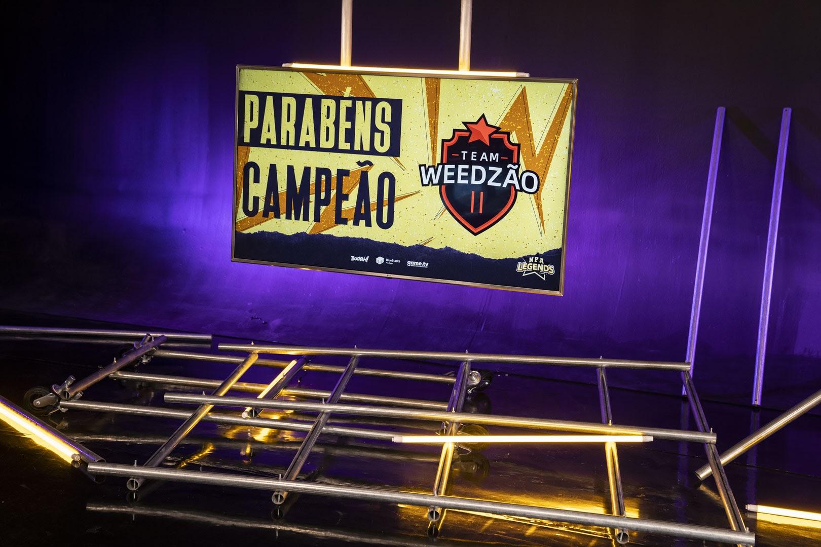 O time Weedzão levou o troféu da Season 2 da NFA Legends