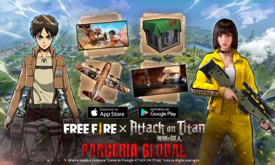 Free Fire e Attack of Titan